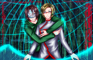 PewDieCry: Virus!Cry x Hacker!PewDie by xoStrawberry