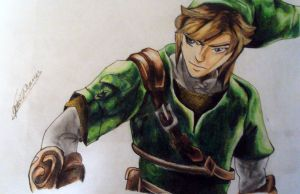Link Drawing by narutobleachfan17