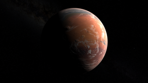 Mars, Early in the Terraforming Process by fmilluminati