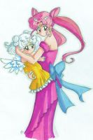 ChibiUsa and child by GreenInkling