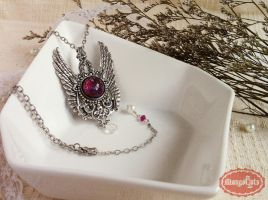 Dragon's Breath Vintage Silver Necklace by uenkii