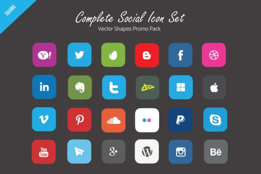 Free Vector Social Icons Set by C3CreativeSpace
