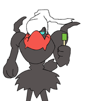 Darkrai can't enjoy his popsicle by LukeTheeMewtwo