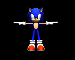 Sonic 3D Model Update by nothing111111