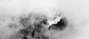 In the Stormy Sea of Clouds by cementine