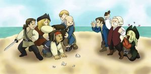 Davy Jones' Suitors by lonelyplushie