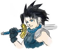 Zack, Kingdom Hearts Version by A-Black-Angel