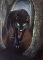 Black Wolf of Deadwood by DemonWolf47x