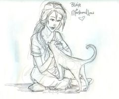 Blaire gets a kitty. by burdge