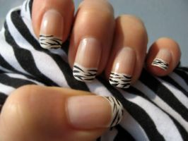 Zebra Nail Polish 2 by xzibitka