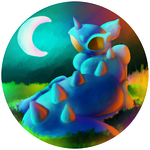 Moonlight Nidoqueen by The-Last-Silver-Moon