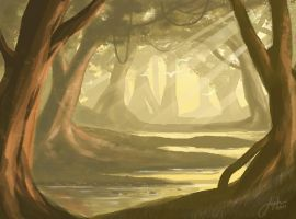 Forest Landscape 1hr 30 min by JophielS