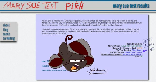 Mary Sue Test - PITCH by Pimander1446