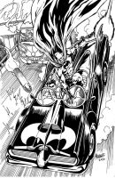 Batmobile action by gammaknight