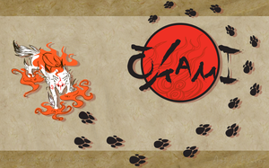 Okami custom desktop :3 by Heilos