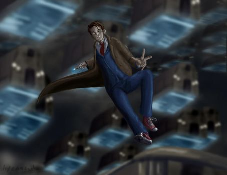 The Tenth Doctor by hyenacub