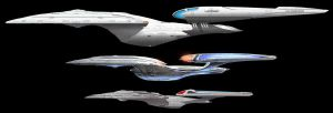 USS Enterprise F and USS Enterprise G by HBsuperman