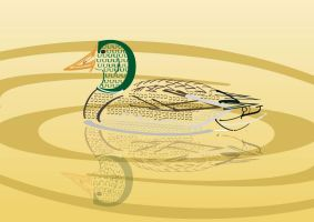 Typography Duck by Doriard