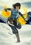 Korra - Mountain Top Training by Hakashi-Arakawa
