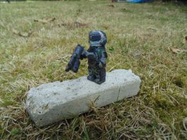 Lego Dead Space 2 Security Suit, Done. by WeasleFire
