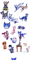 CatFormers doodles-so sparkly by MidnightsBloom