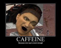 Motivator 'Caffeine' by ItchyBarracuda