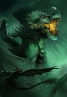 HTTYD - Battling the Green Death by Bambz-Art