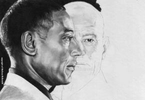 WIP 3 Gustavo Fring and Walter White (Breaking Bad by mellimac