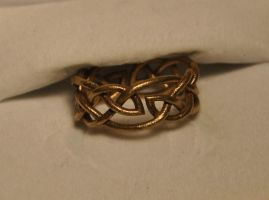 Leaf Celltic Knot Ring by dfoley75