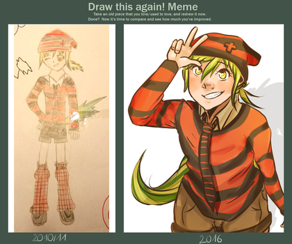 Draw this again - 2011 to 2016 by Anime-Grimmy