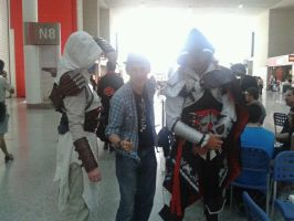 Altair, Ezio and Myself by Ligrano