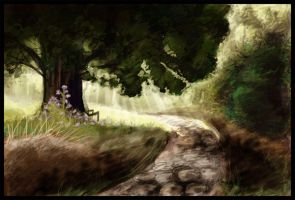 Little spider in the woods by Khazaa