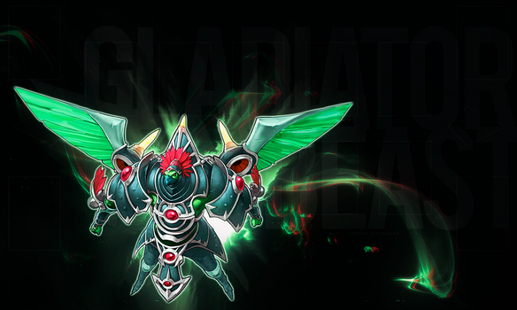 Playmat - Gladiator Beast Gyzarus by YGOcastellano
