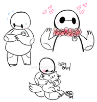More Baymax doodles by Celebi9