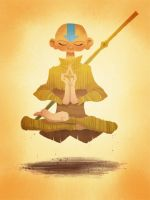 Aang Meditating by brandondayton