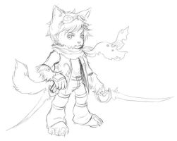 Sketch Commission Example by arvalis