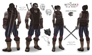 The Witcher 3 - Character concept by Tan Zhong Lin by 3dsensemediaschool