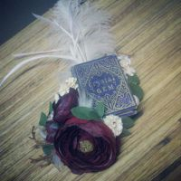 Custom Antique Book Hair Accessory by sweetmildred