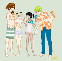 Beach Double Date With The Twins -CLOSED- by pinkyziggy444