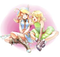 Luz y Nerwen by Rolly-chan by MidoriGale