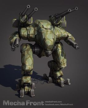 Mecha Front - Black Wolf by Shimmering-Sword