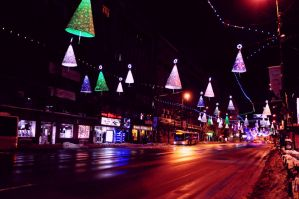 christmas lights of Bucharest by Maladives