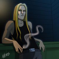 Young Skwisgaar smoking by ash-vickers
