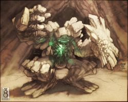 Snerra Rock Golem by MinohKim