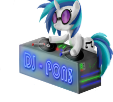 Vinyl Scratch - DJ-PON3 by Bronyontheway