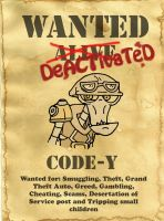 Code-Y Wanted Poster by LarsLasse