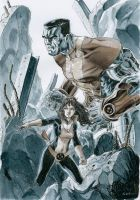 Colossus and Shadowcat by Nicolas-Demare