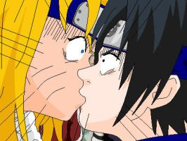 Sasuke X FemNaru Accident Kiss by Namikaze99