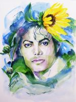 Michael Jackson Sunflowers in the sky by HitomiOsanai