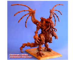 A Clockwork Cthulhu_Unfinished Maquette by shaungent